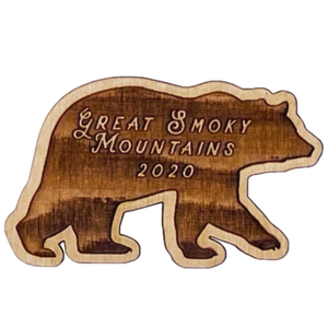 GSM Bear Silhouette Magnet