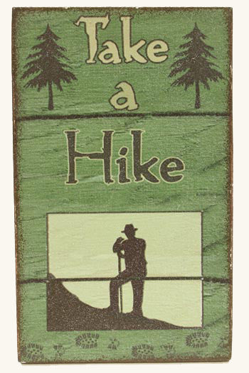 "Magnet ""Take a Hike"" Sign"