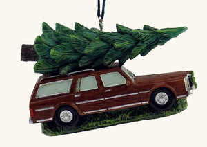 Station Wagon with Tree Ornament