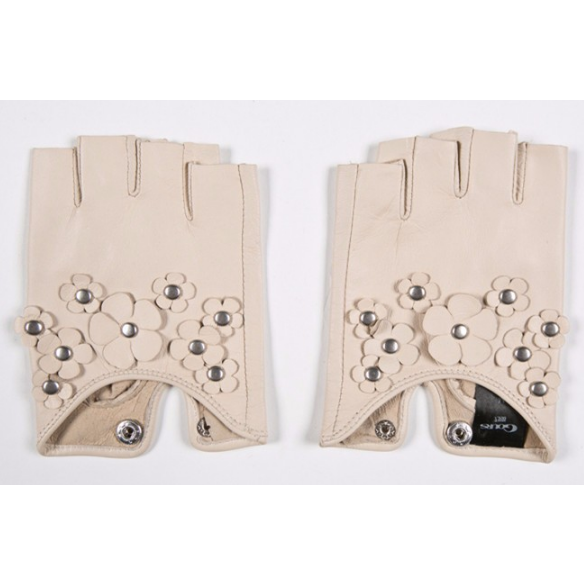 Genuine Leather Fingerless Gloves