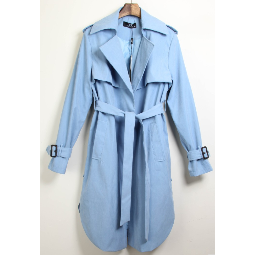 Womens Trench Coat with Button Detail