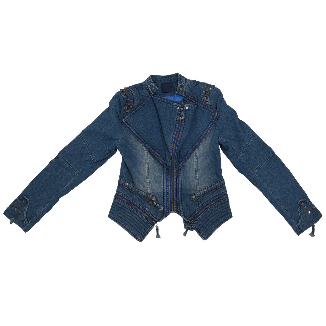 Edgy Denim Jacket with Studs