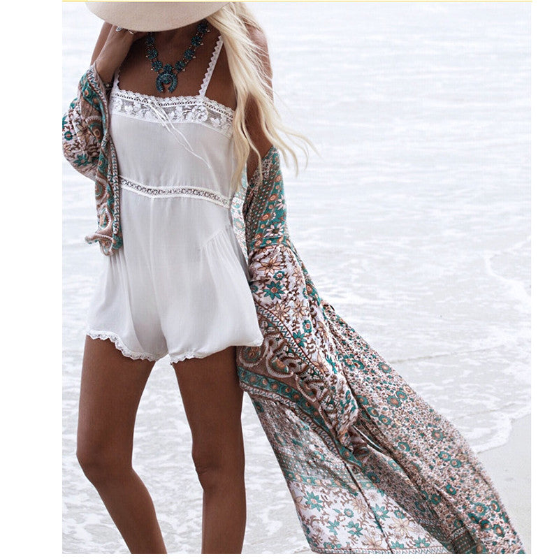 Printed Beach Cover Up