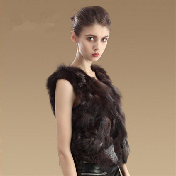 Luxurious Fox Fur Vest