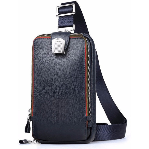 Genuine Leather Crossbody Travel Bag