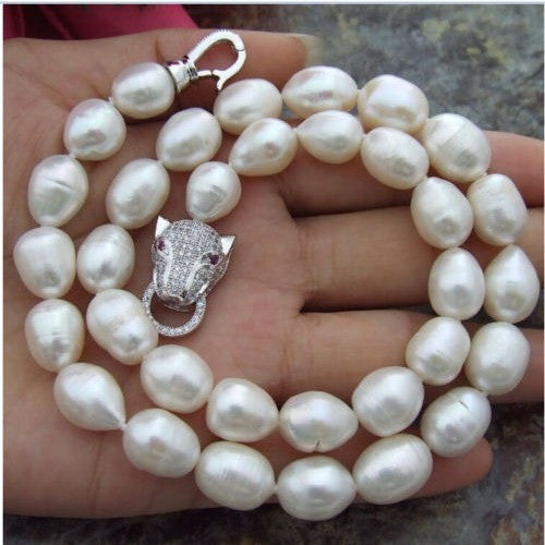 Cartier Style Genuine Pearl Necklace