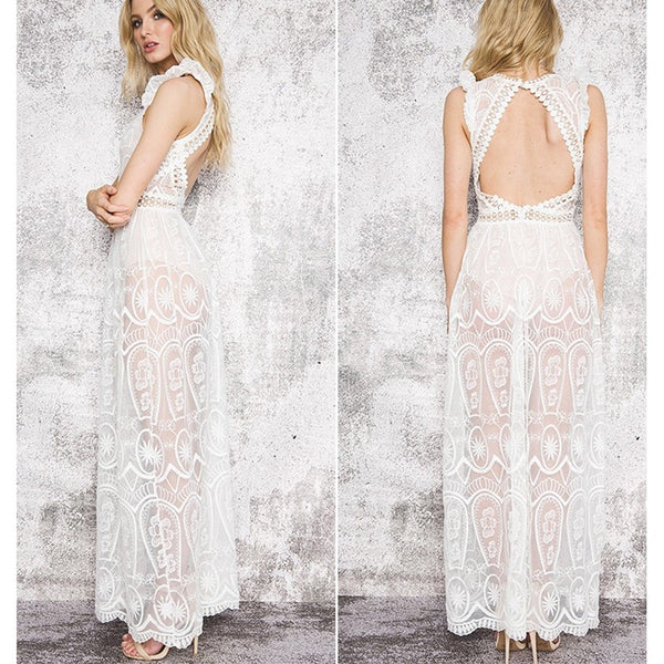 Peek A Boo Lace Dress-More Colors