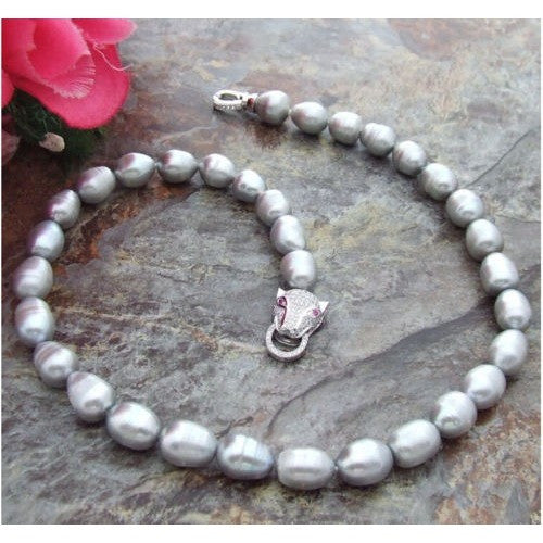 Stunning South Sea Grey Pearl Necklace