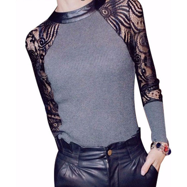 Womens Sexy Floral Lace Night Out Top