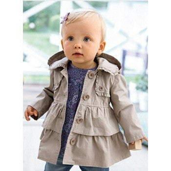 Toddler Ruffled Trench