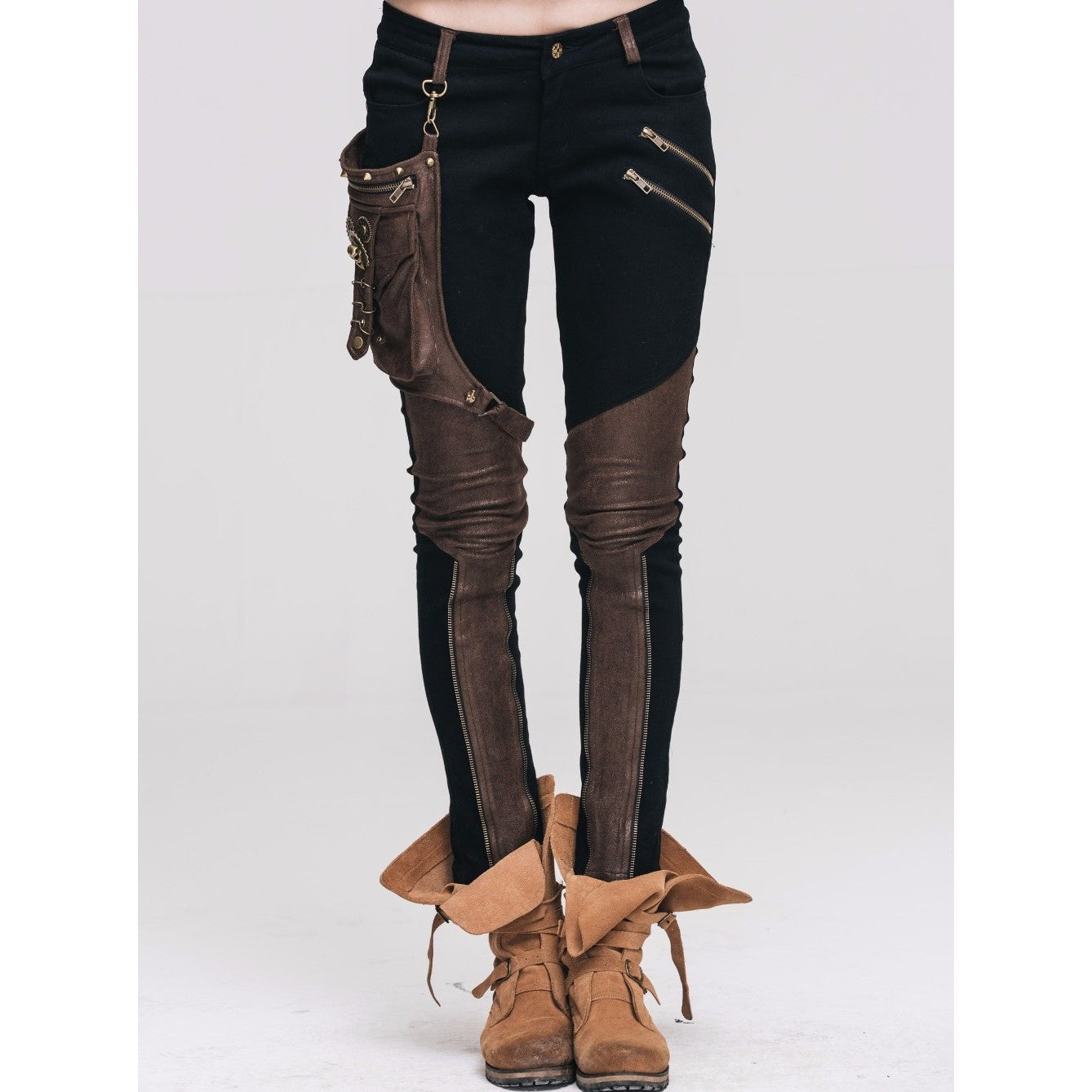 Skinny Pants with Hip Belt Holster-More Colors