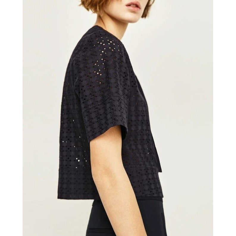 Cropped Lace Top with Lacing