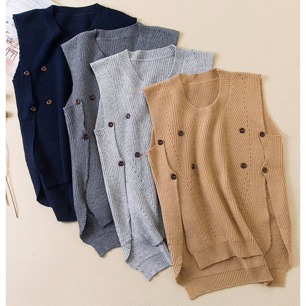 Edgy Lightweight Sweater Vest