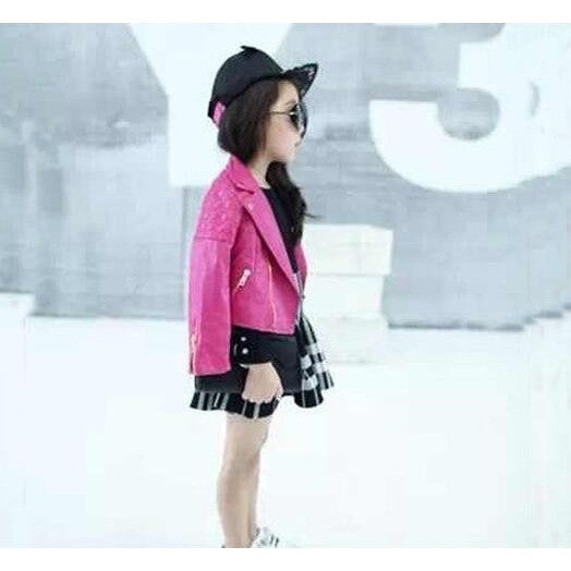 Girls Moto Style Jacket-More Colors