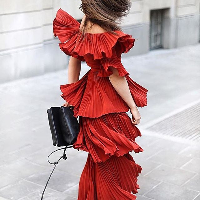 Self Portrait Style Ruffle Dress