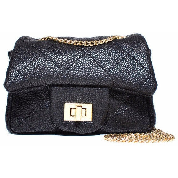 Kids Quilted Chanel Style Bag-Many Colors