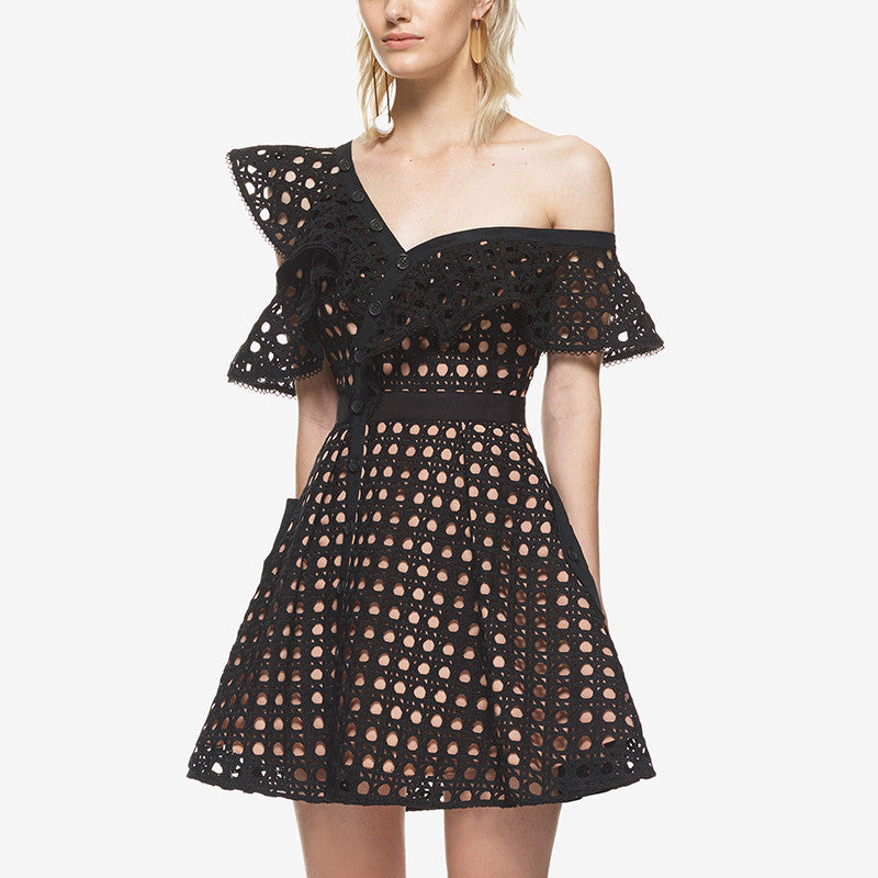 Off the Shoulder Self Portrait Style Dress-More Colors