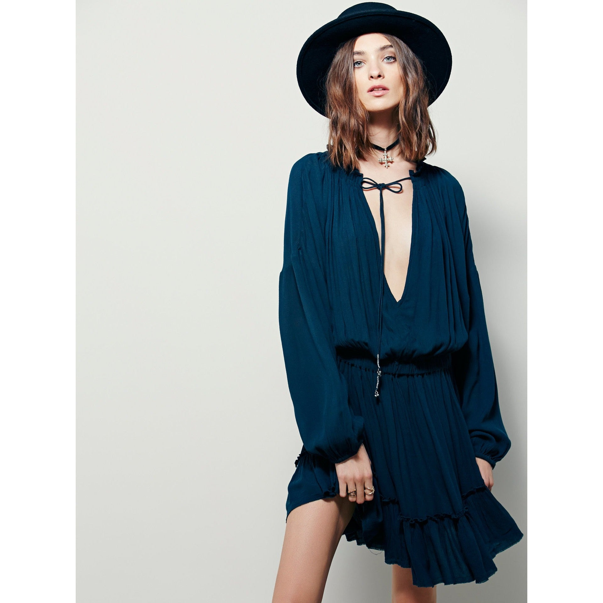 Boho Dress with Tassel Front-More Colors