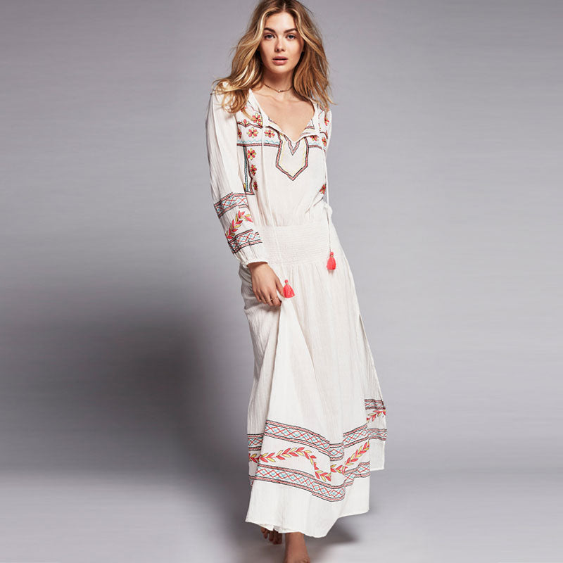 Mystical Embroidered Maxi Dress