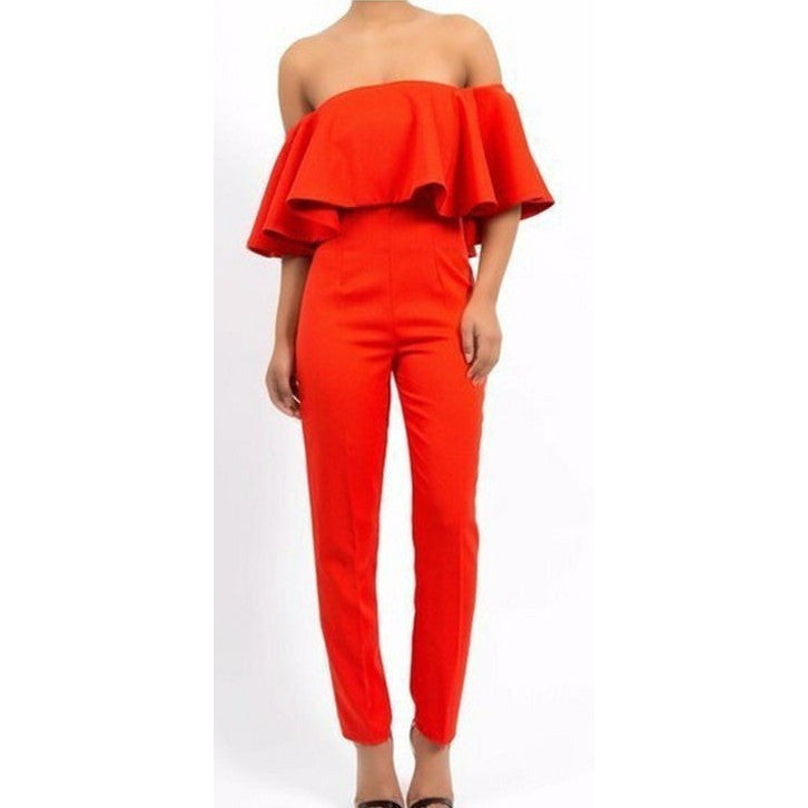 Off the shoulder Womens  Jumpsuit