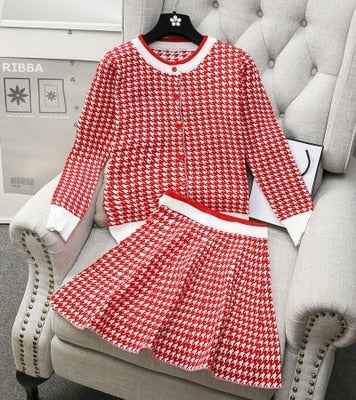 Houndstooth 2 pc. knit set