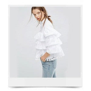 Ruffled white shirt