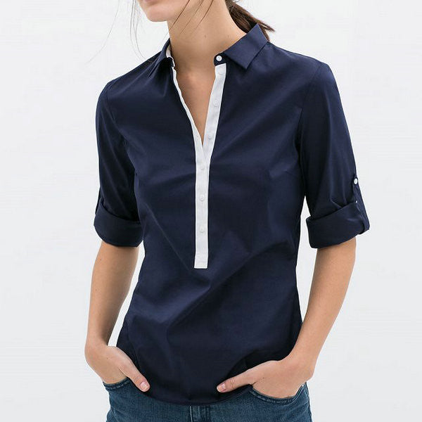 Womens button front shirt