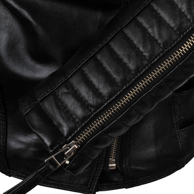 Womens Genuine Leather Moto Jacket