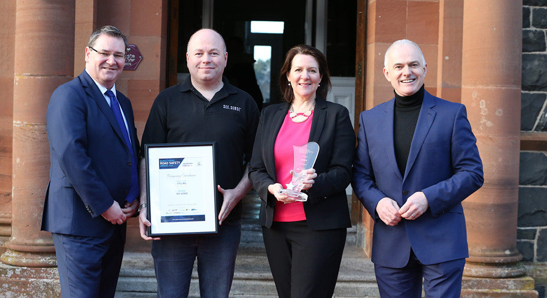 See.Sense proud to be presented with special NI Road Safety Award