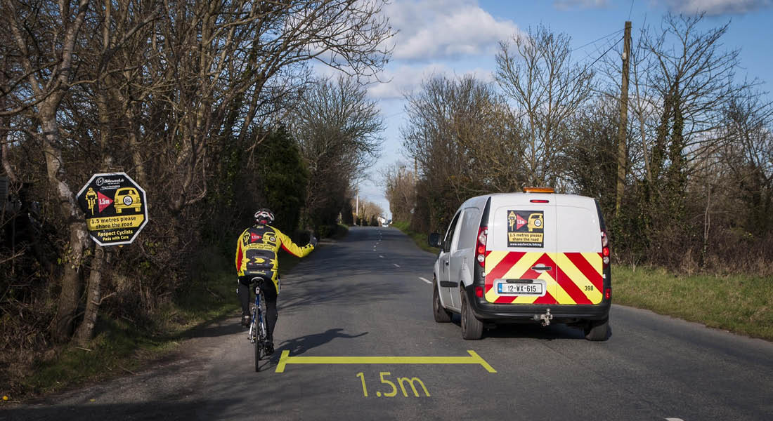 Ireland agrees to 1.5 safe cyclist passing distance to finally become the law!