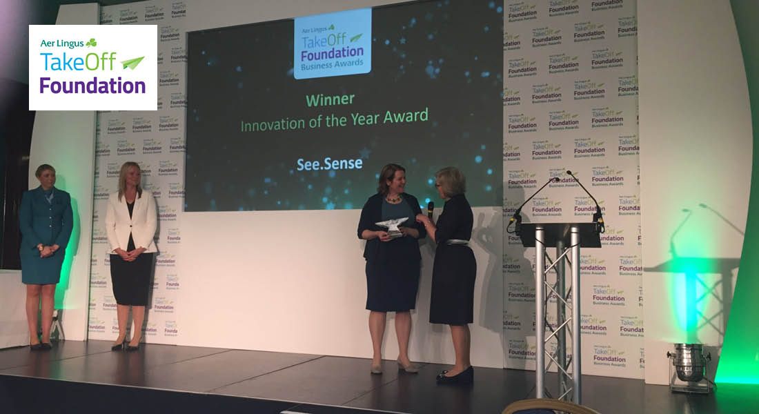 See.Sense lifts Innovation of the year award at the 2018 Aerlingus Take-Off Foundation Awards