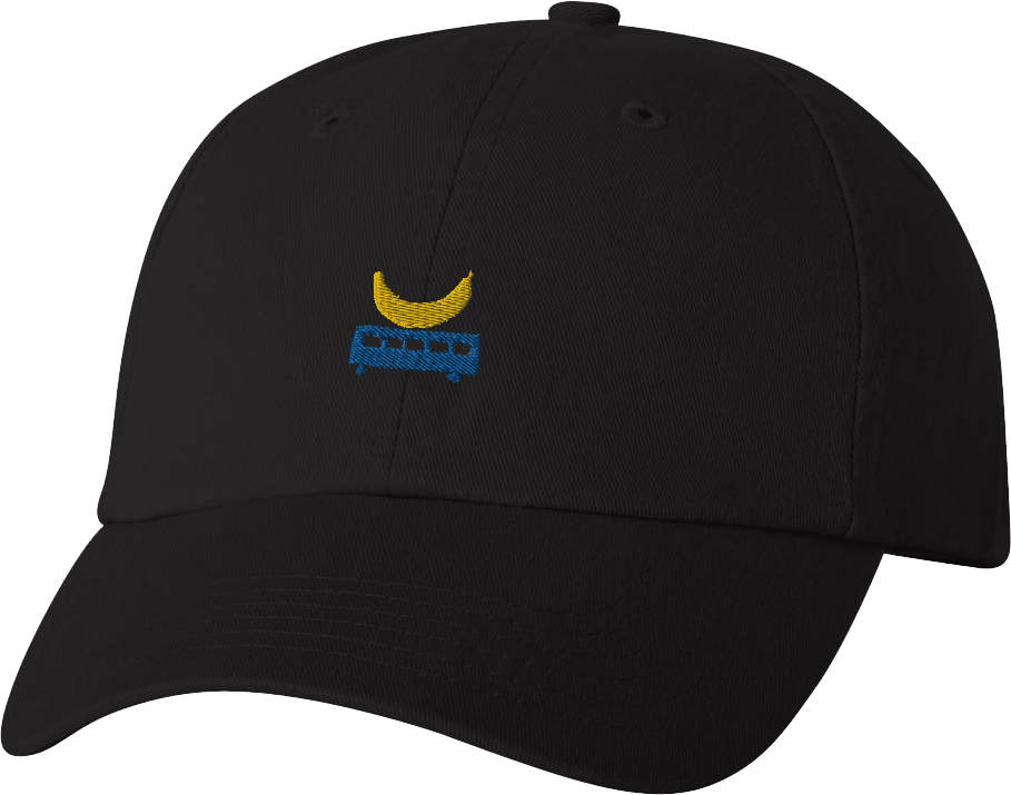 Banana Bus Dad Hat (Black)