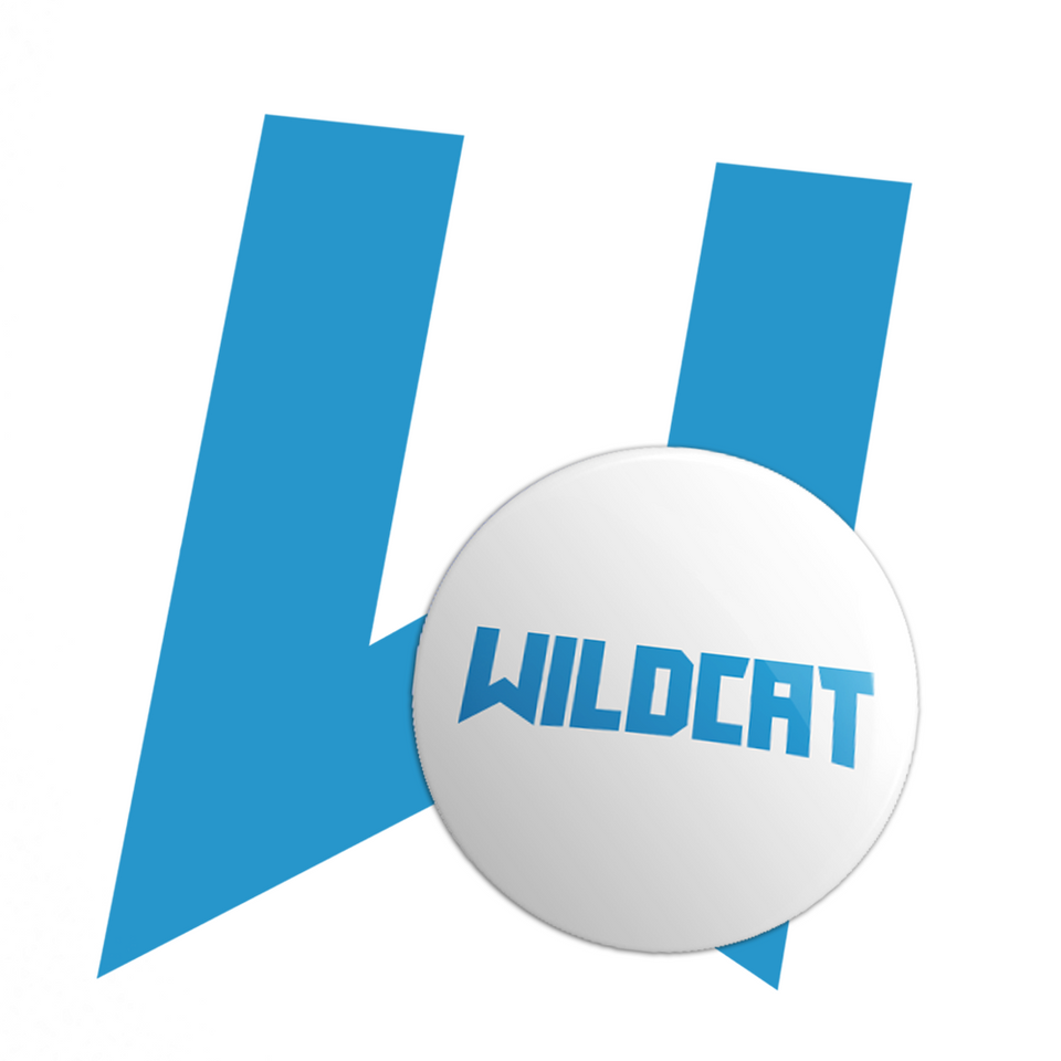 Wildcat Button (White)