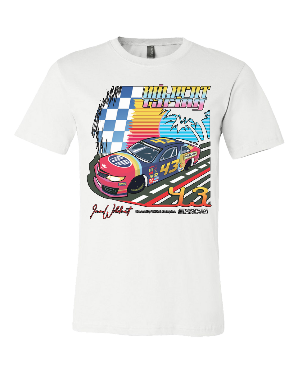 Wildcat Racing Tee - White