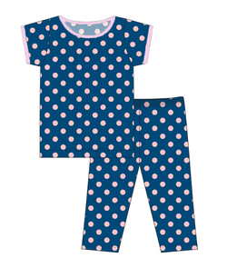 Kickee Pants CUSTOM ALL-Over Lotus Dots Short Sleeve Pajama Set