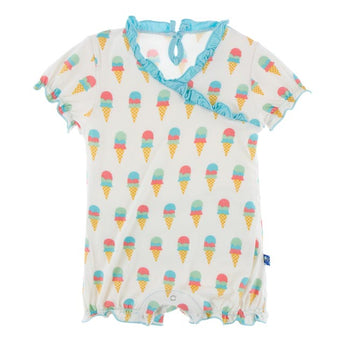 Kickee Pants Natural Ice Cream Ruffle Romper