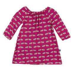 Kickee Pants Berry Cow Long Sleeve Peasant Dress