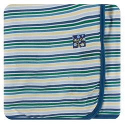 Kickee Pants Boy Perth Stripe Swaddling Blanket