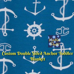 KicKee Pants Custom Toddler Blanket - Twilight Anchor with Twilight Anchor Reverse