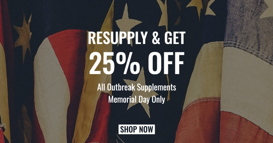 25% OFF MEMORIAL DAY ONLY