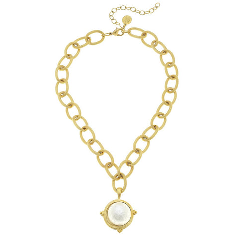Cotton Pearl Gold Chain Necklace