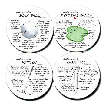 Coasters- Anatomy of Golf