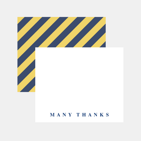 Flat Note Cards- Dad Tie Stripe Thank You