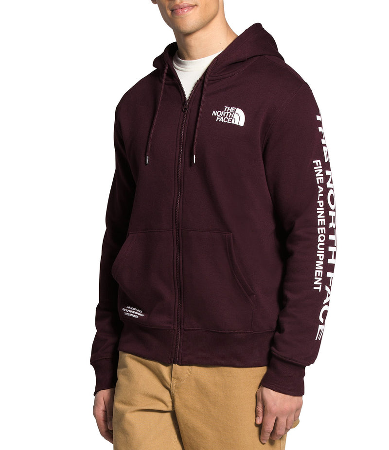 MEN'S BRAND PROUD FULL ZIP HOODIE - ROOT BROWN/TNF WHITE
