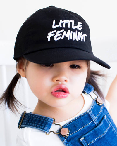 Apparel & Accessories > Clothing Accessories > Hats - Little Feminist Baseball Hat