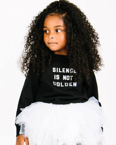 Apparel & Accessories > Clothing > Baby & Toddler Clothing > Baby & Toddler Tops - Silence Is Not Golden Pullover