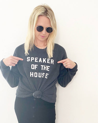 Apparel & Accessories > Clothing > Shirts & Tops - Speaker Of The House Sweatshirt - Women's