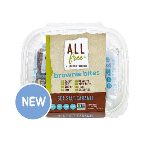 All Free Sea Salt Caramel Brownie Bites