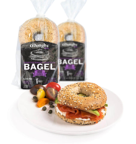 Sprouted Whole Grain Flax Bagel