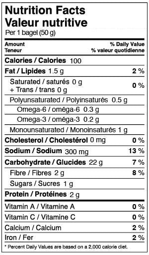 Bagels and English Muffins : Publix.com |Whole Wheat Bagel Nutrition Facts